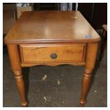 Side table with small drawer-20 x 26 x22 tall