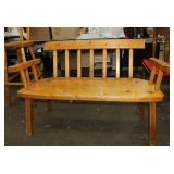 Rustic wooden bench-4 ft x 19 x 31 tall