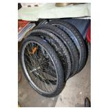 4 Assorted bicycle tires-26 inch