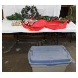 Christmas wreath and swags with double