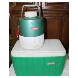 Coleman cooler & Thermos