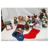 Large lot of  Christmas decor/stuffed bears/