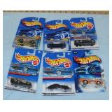 6 Assorted Hot Wheels cars