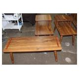 Vintage Coffee table-40x16x15 tall and 2 end