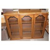 Wood/glass hutch with 3 shelves-51x15x38 tall