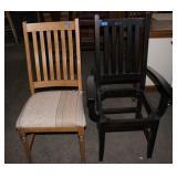2 Wood chairs-1 needs seat