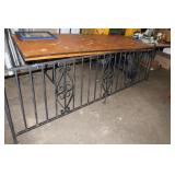 Iron railing-105.5 inches long x 33 inches tall