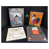 New Sketching, Adult Colouring Book Lot - See