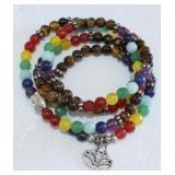 Natural stone wrap bracelet/prayer beads