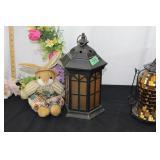 Decorative lanterns/wreath/bunnies etc-see picture