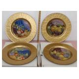 4 Beautiful chargers 13.5 inch diameter-made in