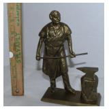 Heavy brass figurine