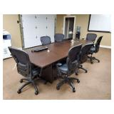 "CONFERENCE TABLE, WOOD, 12"" X 48"", OUTLETS, W/ 7"