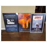 GROUP OF (3) MOVIE POSTER, GODFATHER, JAWS, BACK