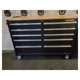 "TOOL CHEST, HUSKY, 10 DRAWER, ON CASTERS, 52""L X"