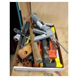LOT OF VARIOUS HAND TOOLS, HAMMERS, SCREW