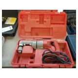 RIGHT ANGLE DRILL, MILWAUKEE, MDL 1001-1, W/ CASE