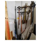 LOT OF LONG HANDLE TOOLS TO INCLUDE BUT NOT