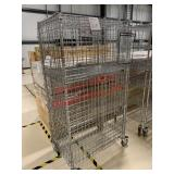 Lot of (1) 1 metro cart 4 tiers with locking