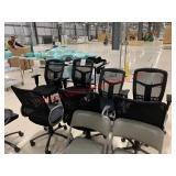 Lot of (1) 26 black chairs various models and
