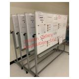 Lot of (1) 4 portable whiteboards