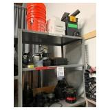 Metal Shelve with Contents