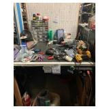 Workstation with Miscellaneous Tools