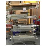 Uline Rack W/ Wheels  & Aluminum Poles