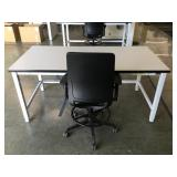 Lab Desk and Chair