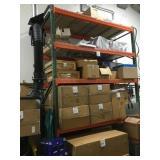 Warehouse storage shelving