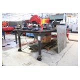 Custom Heavy Duty Metal Workbench On Wheels