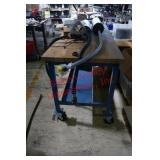 Heavy Duty wood top  table with metal frame with w