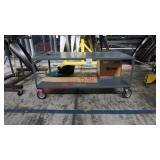 Custom Metal Workbench on Wheels