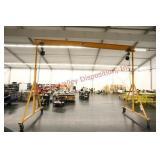 Steel Adjustable Height 2 Ton Capacity Gantry Cran