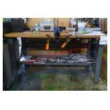 Custom Wood Table with Metal Frame