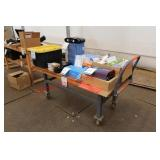 (2) Heavy Portable Wood Top Tables
