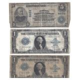 (3) EARLY US COLLECTIBLE PAPER CURRENCY NOTES