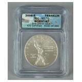 BEN FRANKLIN SCIENTIST MS70 COMMEMORATIVE COIN