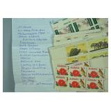 APPROX. 200+ US PLATE BLOCK STAMPS