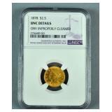 1878 $2.50 US QUARTER EAGLE GOLD COIN