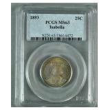 PCGS MS63 1893 ISABELLA COLUMBIAN EXPOSITION