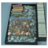 APPROXIMATELY 2000+ ASSORTED US PENNIES