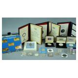 (30) SILVER MEDALS, COINS & INGOTS