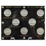 COIN WORLD 8 STERLING MEDALS US MINT HISTORY GROUP