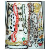 (16) ASSORTED BEADED NECKLACES