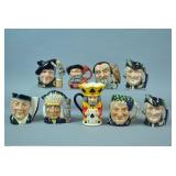 (9) PIECE ROYAL DOULTON CHARACTER GROUP