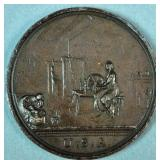 UNCOMMON 1798 GEORGE WASHINGTON SEASONS MEDAL