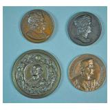 (4) CHRISTOPHER COLUMBUS BRONZE MEDALS