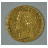 1898 GERMAN STATES BAVARIA 10 MARK GOLD COIN