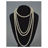(3) CULTURED PEARL NECKLACES